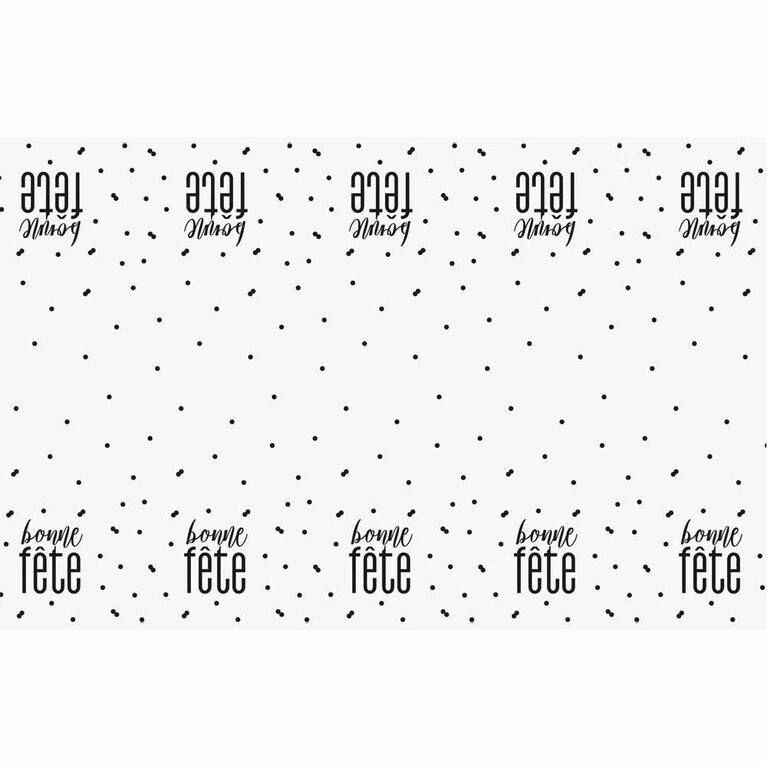 Bonne Fete Plastic Tablecover 54x108 - French Edition