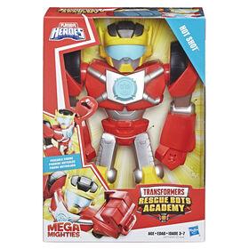 Playskool Heroes - Transformers Rescue Bots Academy - Mega Mighties Hot Shot 10-Inch Action Figure