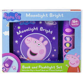 Peppa Pig – Moonlight Bright Book and Flashlight Set (Ensemble Clair de lune comprenant un livre et une lampe de poche)