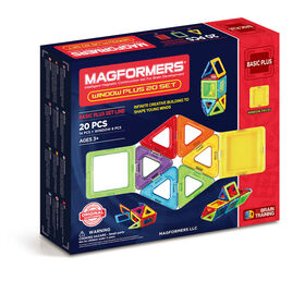 Magformers Window Plus 20 Pieces Rainbow Colors - English Edition