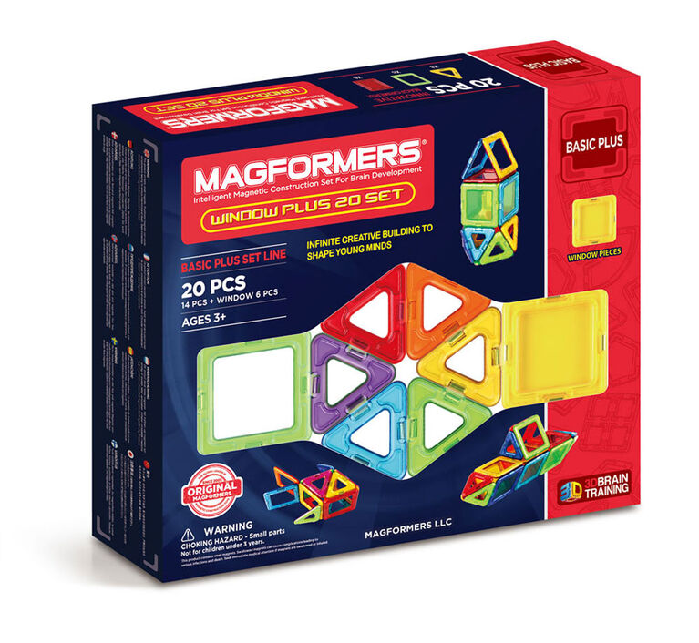 Magformers Window Plus 20 Pieces Rainbow Colors
