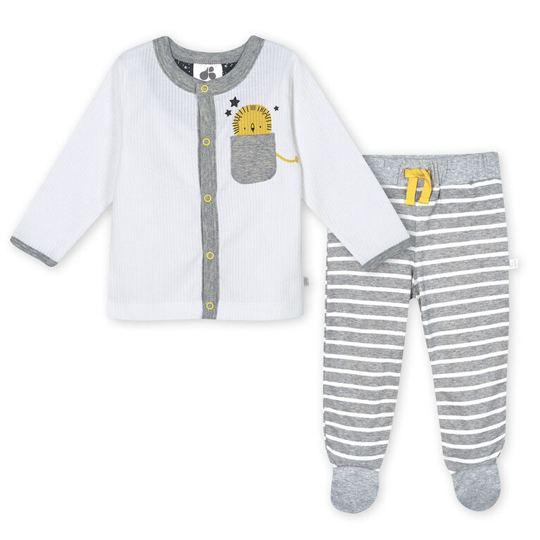 Just Born Baby Boys 3-Piece Organic Take Me Home Set - Lil Lion Newborn