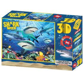 Shark Week - Shark Reef (Récif de requin) - 100 pc Casse-tête Super 3D