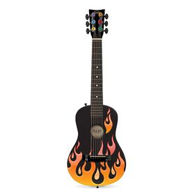 Premier acte Guitare acoustique Flames l'Orange.