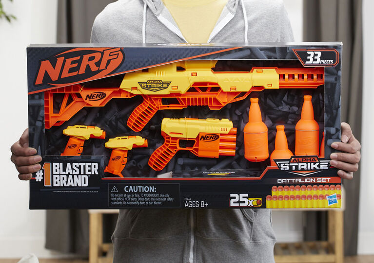 Nerf Alpha Strike Battalion Set, 33-Piece - R Exclusive