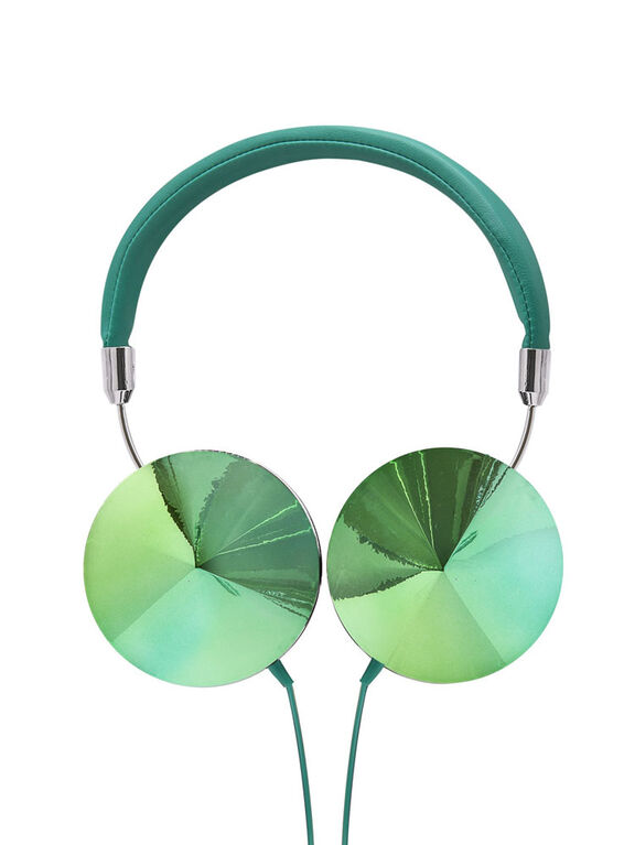 Art + Sound Iridescent Headphones with Mic, Teal