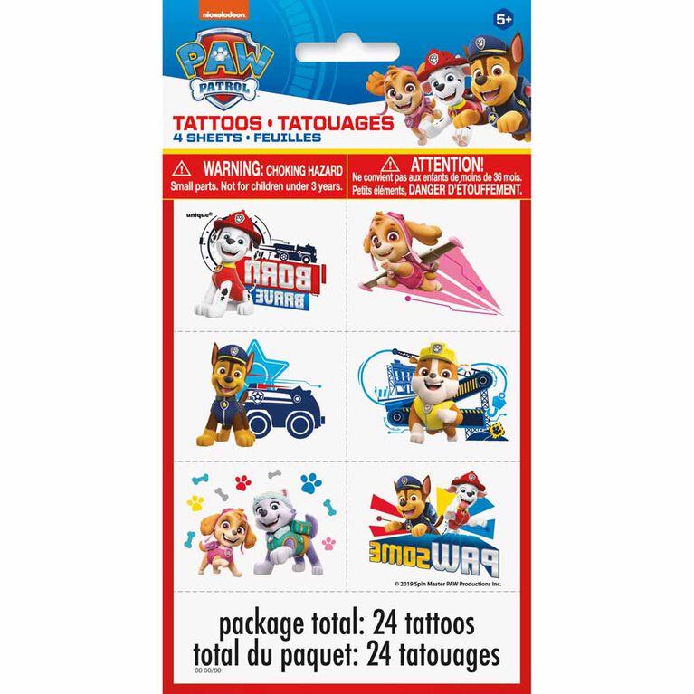 Paw Patrol Tattoos, 24 pieces