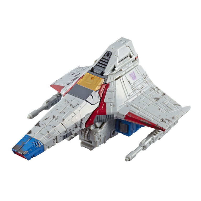 War For Cybertron in stoc Transformers STARSCREAM FIGURE Voyager Class Siege