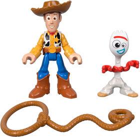 Imaginext Disney Pixar Toy Story4 Pack de 2Figurines Woody et Fourchette