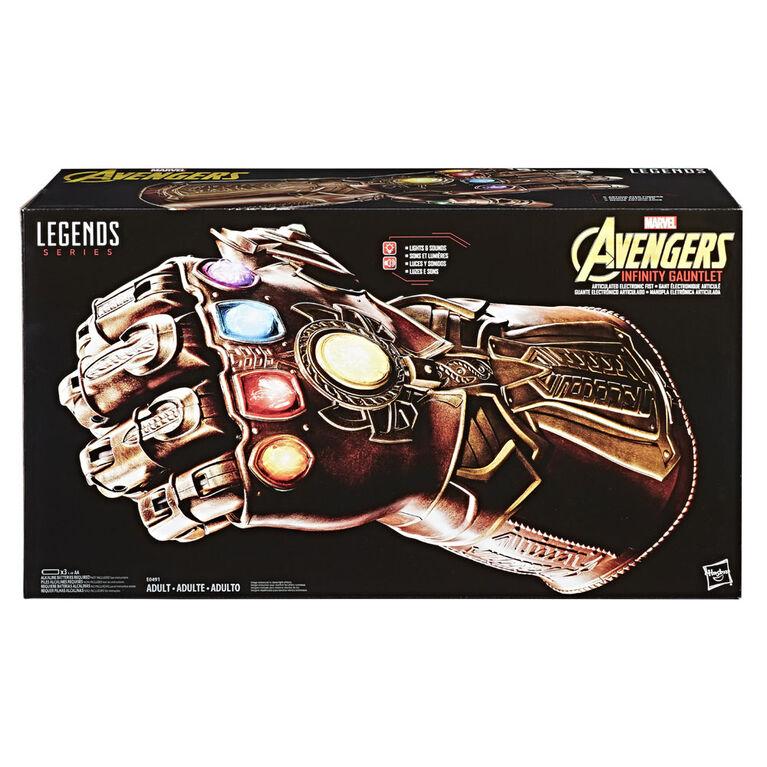 Marvel Legends Series - Gant de l'infinité électronique articulé. - Notre Exclusivité - Convient aux adultes