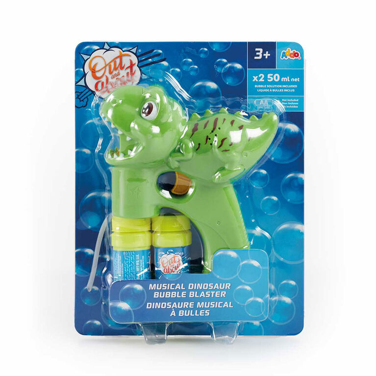 Out & About Musical Bubble Blaster Dinosaur - R Exclusive