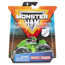 Monster Jam, Official Grave Digger Monster Truck, Die-Cast Vehicle, Training Trucks Series, 1:64 Scale