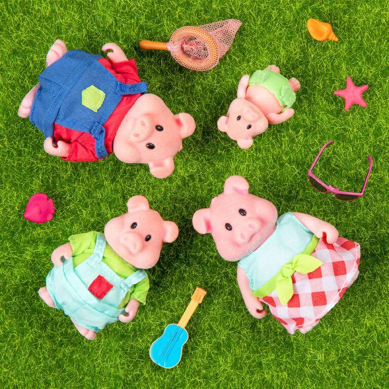 Curlicue Cochons, Li'l Woodzeez, Ensemble de petites figurines de cochons