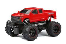 New Bright 1:18  Scale  RC Chargers CHEVROLET SILVERADO  Radio Control Truck - ROUGE.