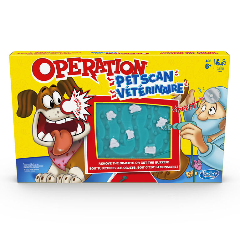 Operation Pet Scan Board Game with Silly Sounds