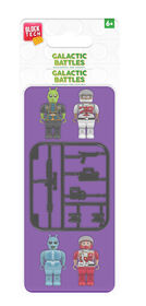 Block Tech - Galactic Battles 4 Minifigs (Mini Figures) and Accessories