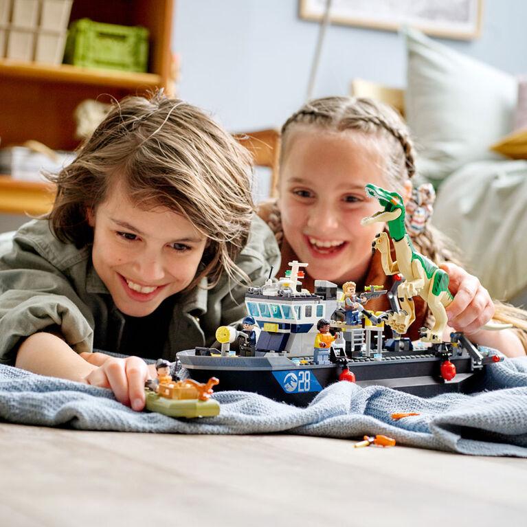 LEGO Jurassic World L'évasion du bateau du dinosaure Baryonyx 76942