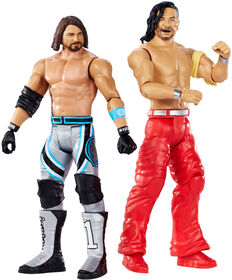 WWE - WrestleMania - Coffret de 2 figurines - AJ Styles vs Shinsuke Nakamura - Édition anglaise.