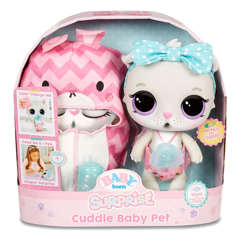 BABY born Surprise Cuddle Baby Pet - Kitty Really Drinks & Pees