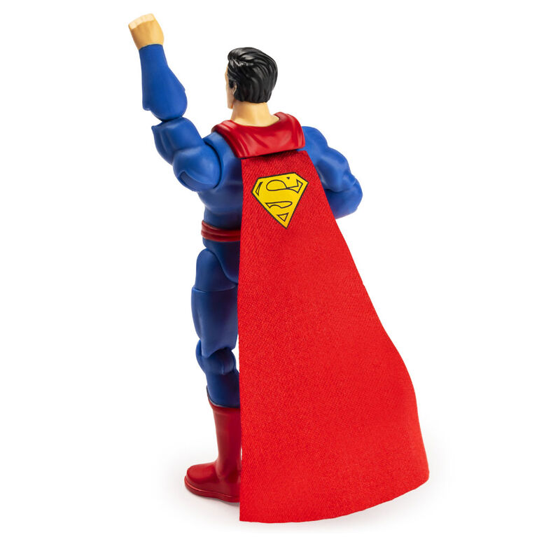 DC Comics, 4-Inch SUPERMAN Action Figure with 3 Mystery Accessories, Adventure 1