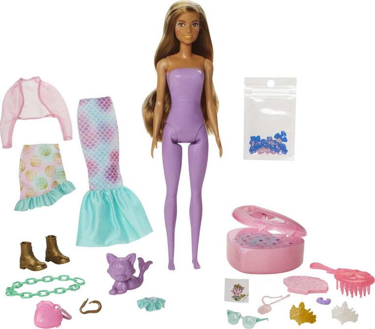 Barbie-Coffret Color Reveal Sirène Fantastique, avec 25 surprises