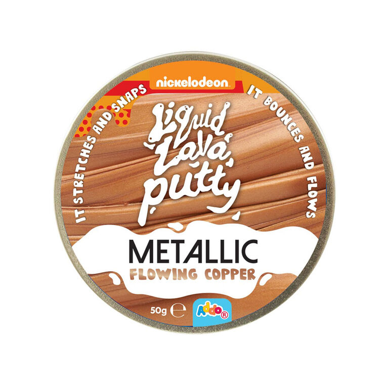 Nickelodeon Liquid Lava Putty Metallic Metals Flowing Copper - R Exclusive