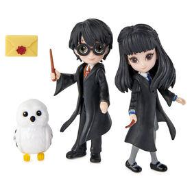 Wizarding World, Magical Minis, Friendship Set Harry et Cho Chang avec figurines de jeu à collectionner et créature