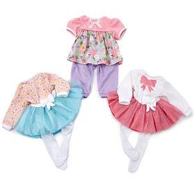 Madame Alexander - 16 inch Lil' Cuddles Outfit - Pink Tutu