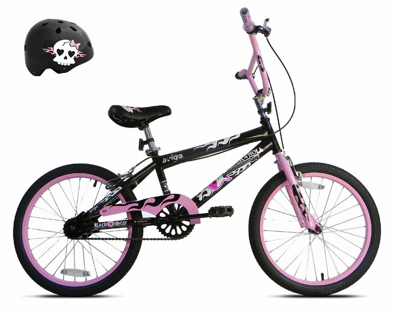 Avigo Rock N Roll Gurl Bike with Helmet - 20 inch