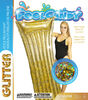 """72"""" Glitter Pool Raft with Pillow - Gold"""