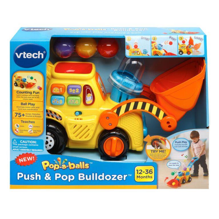 VTech Pop-a-Balls Push & Pop Bulldozer - English Edition ion