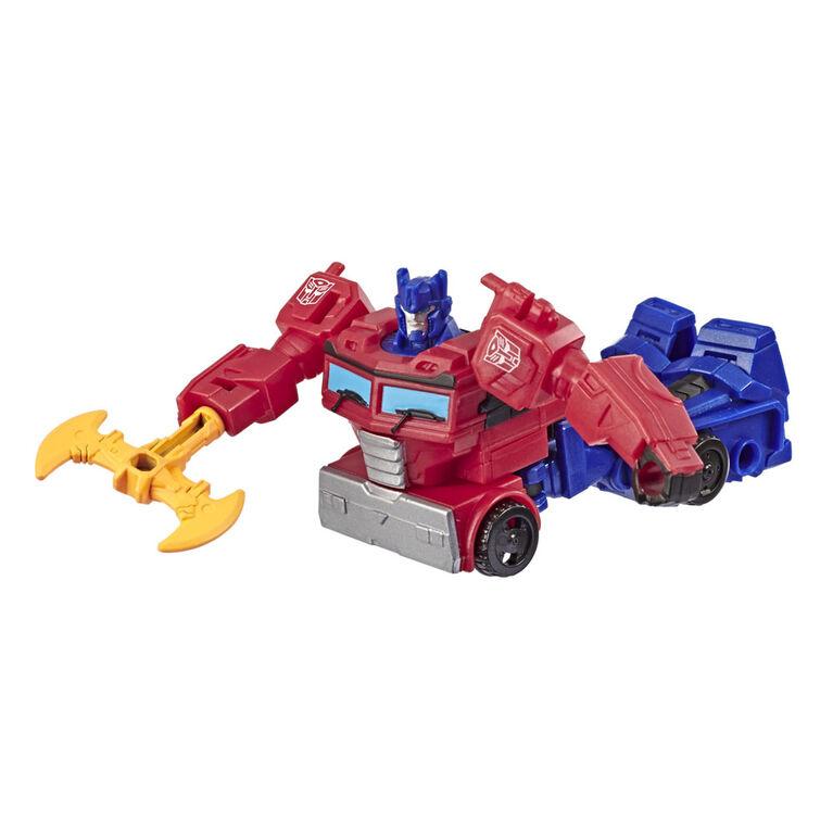 Jouets Transformers Cyberverse, figurine Action Attackers Optimus Prime de classe éclaireur, taille de 9,5 cm
