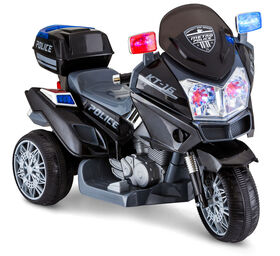 Kid Trax Police Trike 6V Powered Ride On - Black