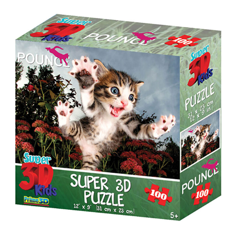 Pounce - Chicken 100 Piece Super 3D Puzzle