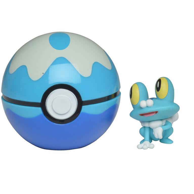 Pokémon Clip 'N' Go - Grenousse (Froakie) et ballon de plongée - Édition anglaise