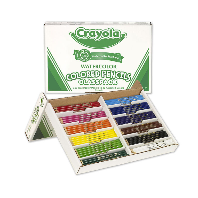 Crayola - Watercolour Pencils Classpack, Assorted, 240/Pack - English Edition