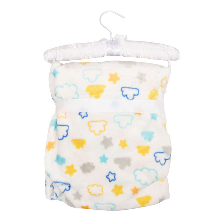 Baby's First By Nemcor 2 Piece Set- Fox with Cloud Design Blanket