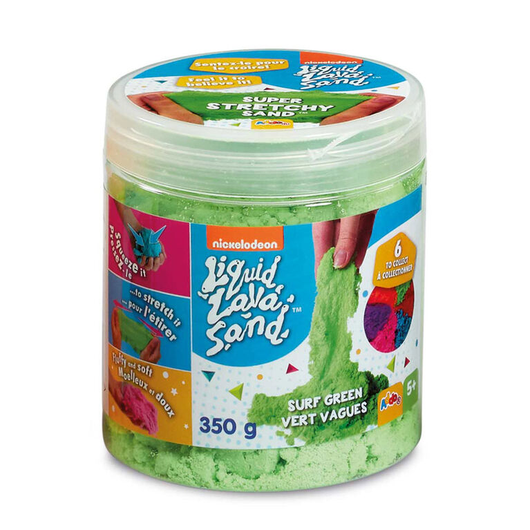 Nickelodeon Liquid Lava Sand 12oz. Super Stretchy Sand Tub - R Exclusive - Colours may vary - one per purchase
