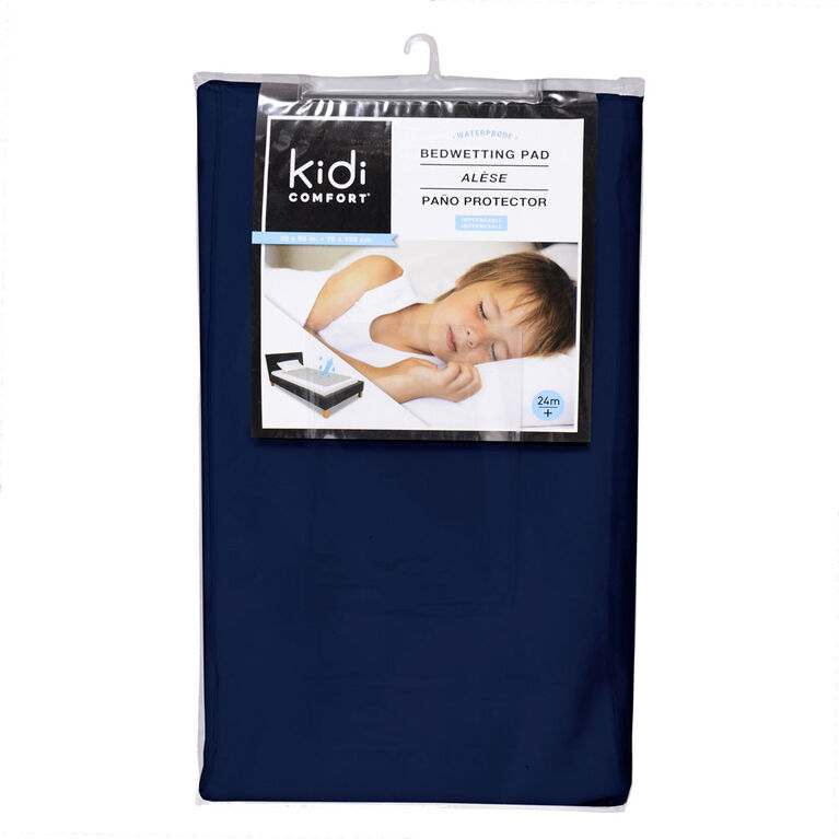 Kidicomfort Washable and Waterproof 3 layers Toddler Pad 60 X 30 - Navy