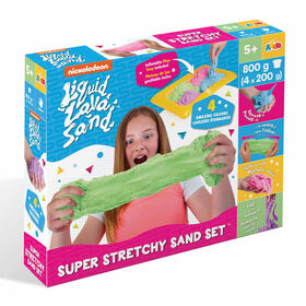 Nickelodeon Liquid Lava Sand Super Stretchy Sand Playset - R Exclusive - Colours may vary - one per purchase - R Exclusive