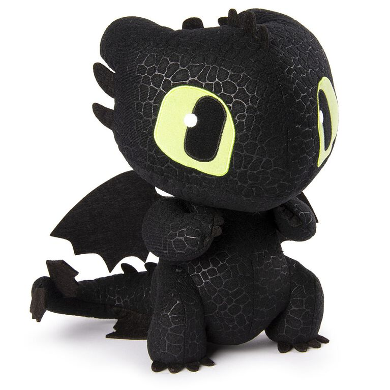 How To Train Your Dragon, Squeeze & Growl Toothless, 10-Inch Plush Dragon with Sounds