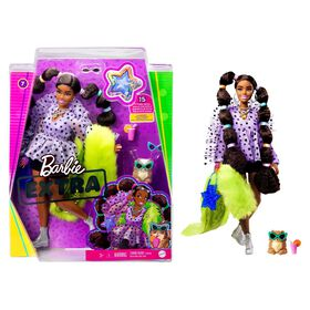 Barbie Extra Doll #7 in Top and Furry Shrug with Pet Pomeranian