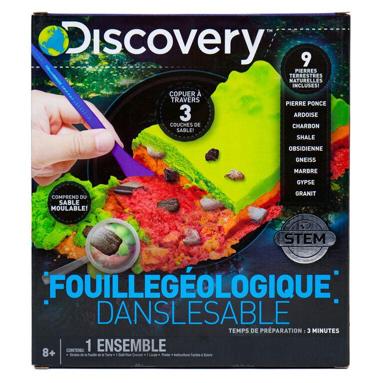 DISCOVERY Fouille Géologique dans le Sable
