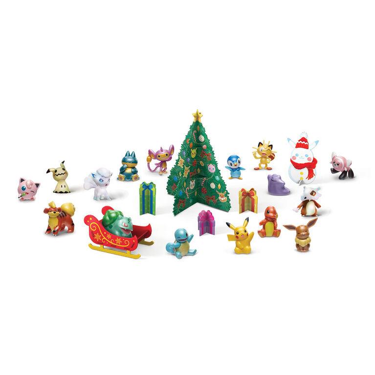 Pokémon - Multi-emballage de figurines de combat - calendrier de l'Avent, paquet de 24