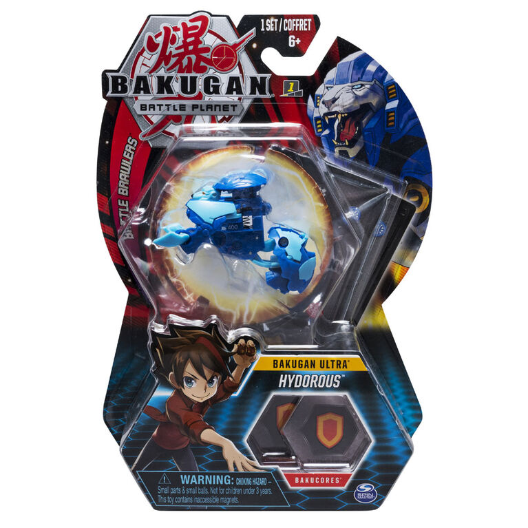 Bakugan Ultra Ball Pack, Hydorous, 3-inch Tall Collectible Transforming Creature