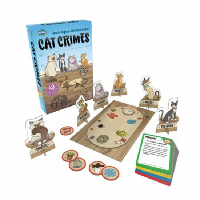 "Ravensburger! Thinkfun - Jeu de ""Cat Crimes Who's to Blame Logic"" (Français Seulement)"