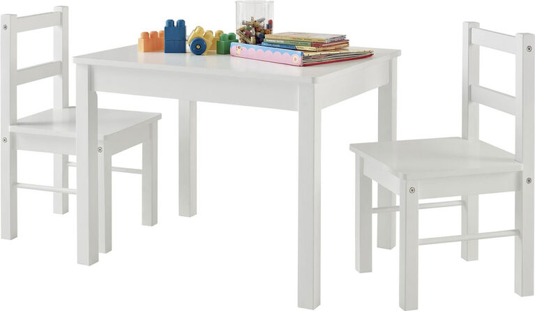 3 Piece Kid's Wood Table and Chair Set