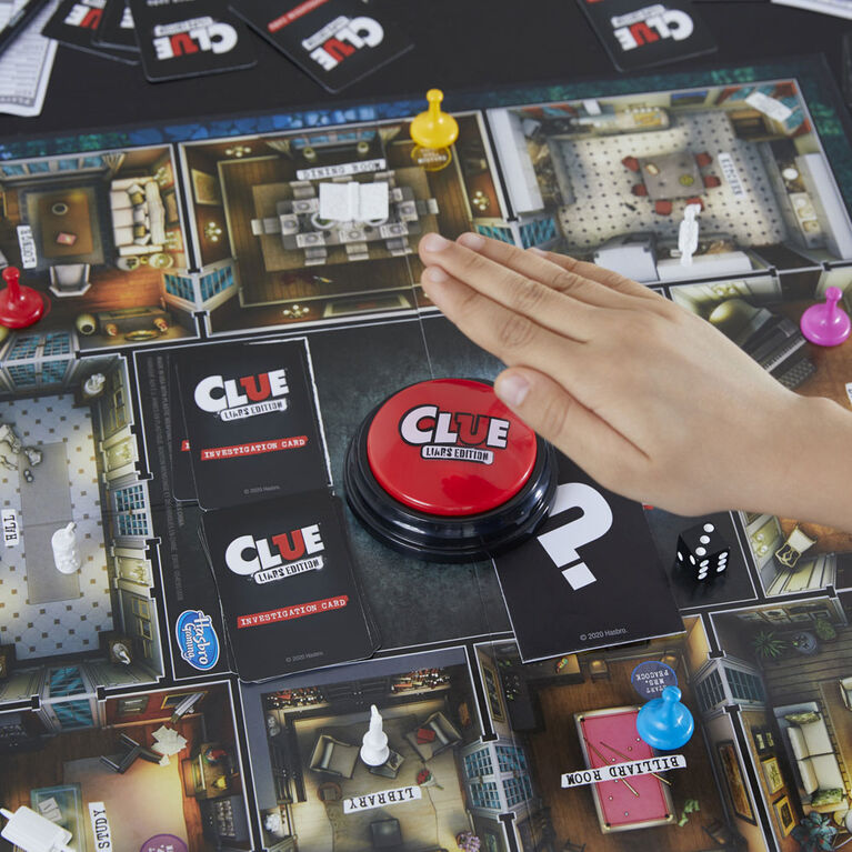 Clue Liars Edition Board Game;Murder Mystery Game, Expose Dishonest Detectives With the Liar Button