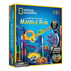 National Geographic Glow-In-The-Dark Marble Run 50 Piece Set - English Edition