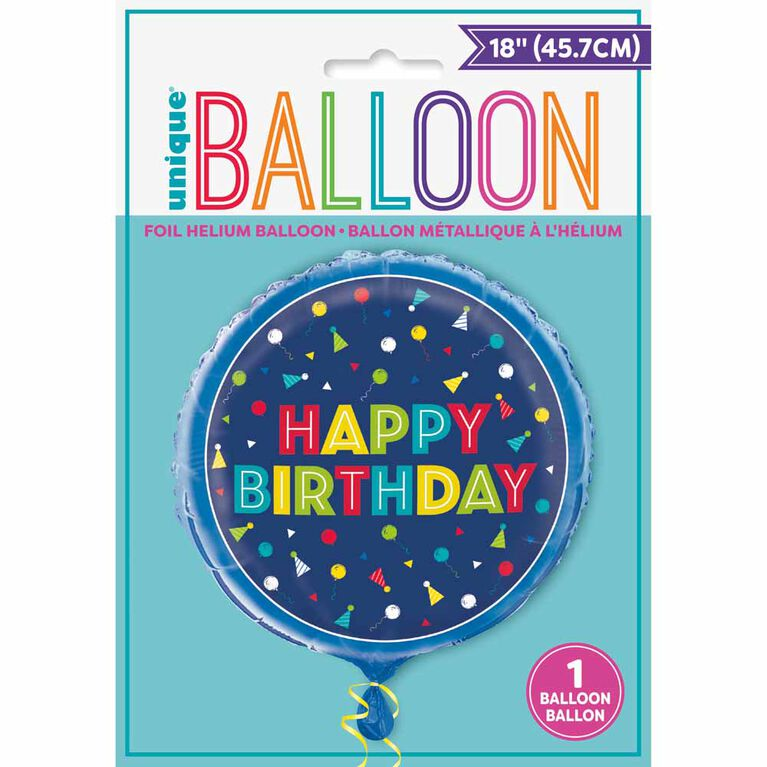 "Peppy Bday Round Foil 18"" - English Edition"